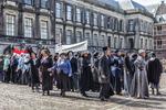 Haags Historisch Festijn 2017, een demonstratie voor vrouwenkiesrecht wordt uitg…