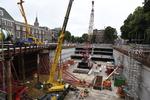 Tournooiveld, bouwput van de ondergrondse parkeergarage; vervaardiger: Oosterhou…