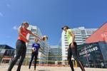 Spuiplein, trainingsveld voor het wereldkampioenschap beachvolleybal; vervaardig…