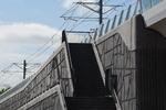 Viaduct van metrolijn E nabij de Laurens Reaelstraat; vervaardiger: Oosterhout, …