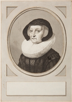 Portret van Maria Petitpas, echtgenote van Johannes Uytenbogaert.