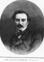 portret van Jan Jacob Cremer (1827-1880), borstbeeld, trois quart. De geportretteerde is gekleed in  ...