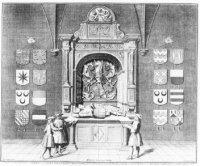 De graftombe voor Gerrit van Assendelft (? 1486) en Beatrix van Daelem (? 1492) in de Assendelftkape ...