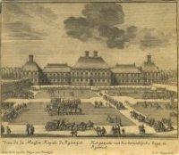Gezicht op het Koninklijke Huis te Rijswijk alwaar de onderhandelingen over de negenjarige oorlog (1 ...
