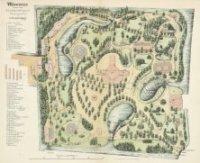 Gedetailleerde plattegrond van de Koninklijke Zoölogisch-Botanische Tuin (de zgn. dierentuin) aan d ...