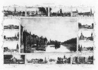 De Hofvijver gezien vanaf de Korte Vijverberg, met links de gebouwen van het Binnenhofcomplex, in he ...