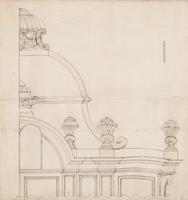 Portugees-Israëlische synagoge, 'Heilige Hechal', op Prinsessegracht 25. Het ontwerp van 'Heilige H ...