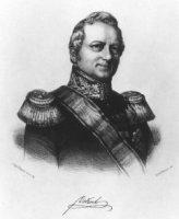 Portret van de staatsman Hendrik Merkus Baron de Kock (1779-1845) met handtekening in facsimile.