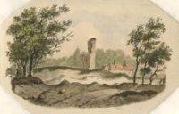 De ruïnie van de kerk van Eik en Duinen;