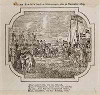 Aankomst van koning Willem I in Scheveningen op 30 november 1813.