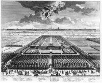 'Aankomst der Heeren ambassadeurs en gevolmagtigden tot de algemene Vreede op het koninklijk huys Ni ...