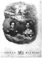 Dubbelportret van Wilhelmina Frederika Louise Charlotte Marianne (1810-1883) prinses van Oranje-Nass ...