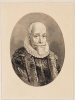 Portret van Gilles van Ledenberg (ovl. 1618). Het conflict tussen Maurits en Van Oldenbarnevelt ging ...