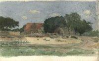 De boerderij Kranenburg aan het einde van de Beeklaan.
