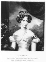 Portret van Louise (1808-1870), prinses van Pruisen, echtgenote van Willem Frederik Karel prins van  ...