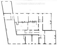 Fluwelen Burgwal, ontwerp van de eerste verdieping van het gebouw op de Fluwelen Burgwal, thans in b ...