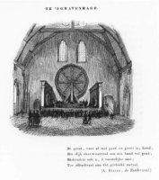 Het interieur van de Ridderzaal met de loterij-installatie, welke aldaar dienst deed van 1726 tot 18 ...