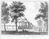 De Oranjezaal, kern van het latere paleis Huis ten Bosch, gezien van de Wassenaarsezijde.