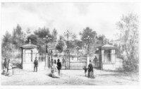 De ingangspartij van het Koninklijk Zoölogisch-Botanisch Genootschap (de zgn. dierentuin) aan de Be ...