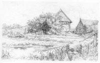 Wijndaelerboerderij, Kijkduinsestraat 573. In het verschiet het voormalige badhotel van Kijkduin (li ...
