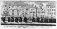 De lijkstatie van Prinses Anna van Hannover, Gouvernante van Nederland. Vlnr: Venestraat  17 t/m 7.  ...
