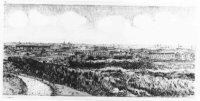 gezicht over de wijk Bohemen en Meer en Bos vanaf een hoog duin ten noorden van strandpaal 103/golfb ...