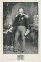 Portret van Willem I Frederik (1772-1843) koning der Nederlanden, ten voeten uit staande en frontaal ...