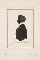 Silhouteportret Jan Jacob van den Broek (1824-1875), hervormd predikant te Welsum, Oegstgeest, Hoorn ...