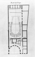 Het ontwerp voor de verbouwing van het Paleis van Nassau-Weilburg tot Koninklijke Schouwburg. Het pl ...