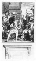 Een schildering in de Civiele Kamer van het Hof van Hol?land op het Binnenhof, voorstellende Romeine ...