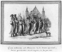 Bezoek van hoogwaardigheidsbekleders uit Rusland op 4 november 1631. Op de achtergrond de Ridderzaal ...