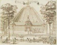 Het Hofje van Nieuwkoop aan de Prinsegracht. Ontwerp voor Jacob de Riemers Beschrijving van 's-Grave ...