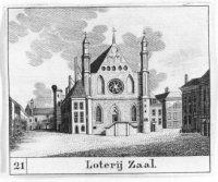 De zgn. Loterijzaal, ofwel Ridderzaal op het Binnenhof.