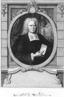 Portret van Wigbold Wigboltsz.Muilman (1674-1746); in ovaal; met familiewapen;