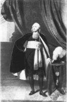 Portret van de staatsman Mr. Rutger Jan Schimmelpenninck (1765-1825) staand naast een tafel waarop e ...