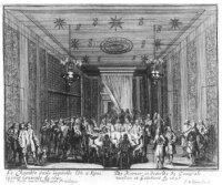 De kamer van de Franse ambassadeurs in het Koninklijke Huis te Rijswijk alwaar de onderhandelingen o ...