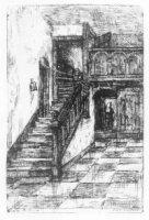 Het trapje naar de secretarie in het departement van Binnenlandse Zaken (later dept. Algemene Zaken) ...
