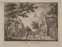 Het dorp Voorburg. Gezicht naar de Herenstraat van de hoek van de huidige Rozenboomlaan in de richti ...