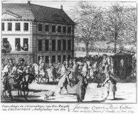 Aankomst van Marquis van Chatauneuf, de ambassadeur van Frankrijk, in Den Haag op 15 januari 1714.