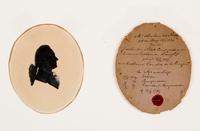 Silhouetportret mr. Abraham van Neck (1734-1789). Staatsman en geleerde, schepen 's-Gravenhage, burg ...