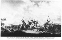 Veldslag bij Quatre Bras met centraal in beeld prins Willem Frederik George Lodewijk (1792-1849), kr ...