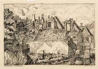 Gezicht op de huisjes aan de Kortenaerkade op de hoek van de Zeestraat tegenover de Hoge Wal, ca. 19 ...