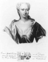 Portret van Agatha Corvina van der Dussen (1715-1761), echtgenote van Gerard van Vredenburch met 4-r ...