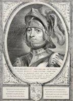 Portret van Willem IV (1318-1345), graaf van Holland, borstbeeld, en face. De geportretteerde draagt ...