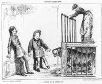 Spotprent op een kabinetcrisis. Haagse kermis 1876.