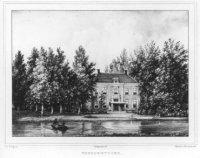 Gezicht naar het tuingevel van het buitenplaats Vlietenburgh te Voorburg.