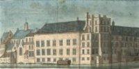 Het Binnenhofcomplex gezien vanaf het zuidwesten, datwilzeggen vanaf de Plaats nabij de Gevangenpoor ...