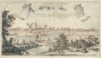 Gezicht op 's-Gravenhage vanuit het zuidoosten; op de voorgrond de Trekvliet en aan de horizon v.l.n ...