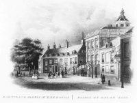 Het paleis Huis ten Bosch gezien uit het westen