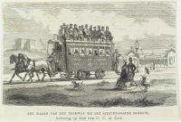 Een paardentram bij het Scheveningse Badhuis aan het Gevers Deynootplein